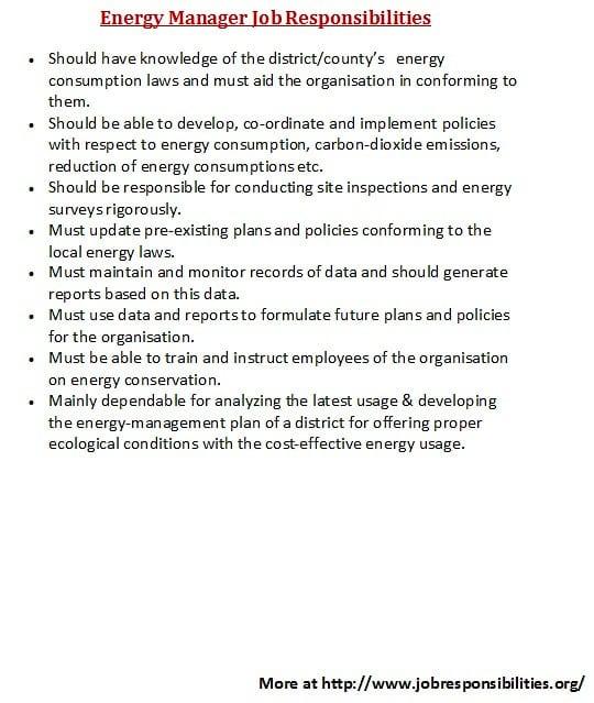 oil-energy-job-responsibilities