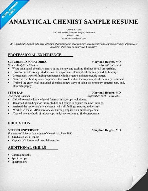 bioanalytical-chemist-job-responsibilities