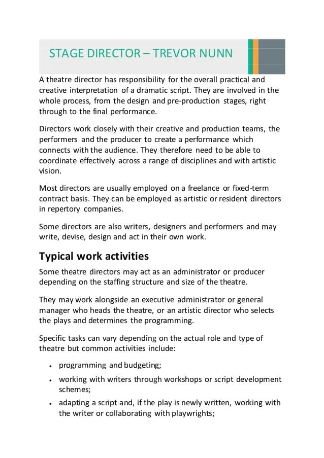 theatre-director-job-responsibilities