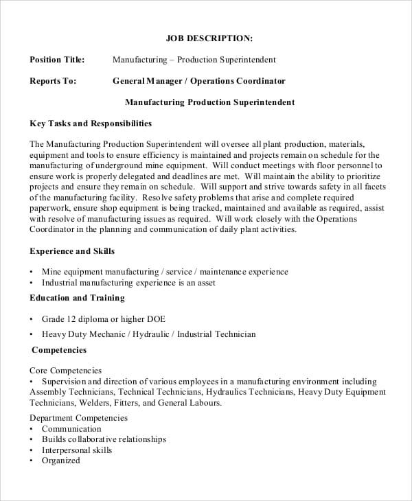 director-manufacturing-job-responsibilities