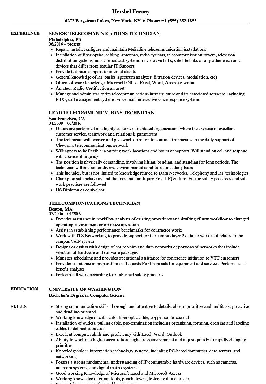 telecommunications-technician-job-responsibilities