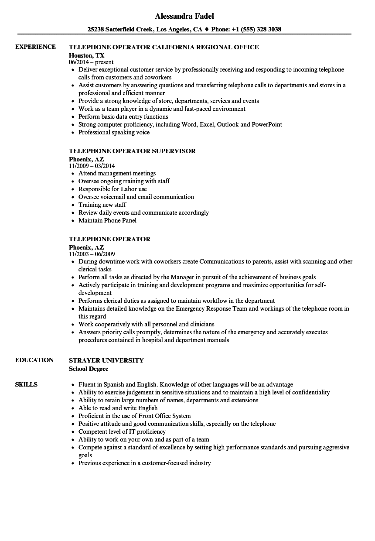 telephone-operator-job-responsibilities