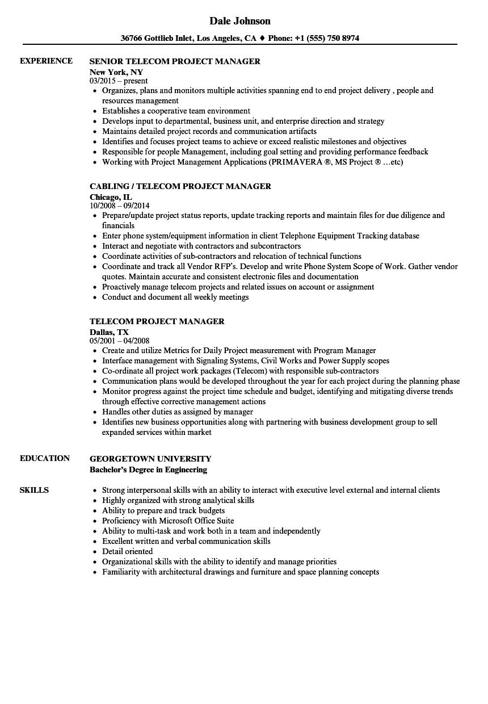 telecom-project-manager-job-responsibilities