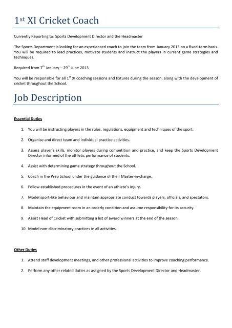 cricket-player-job-responsibilities