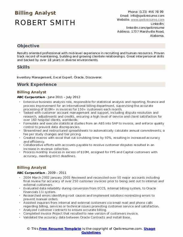 telecom-billing-analyst-job-responsibilities