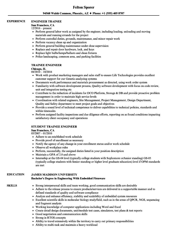 trainee-engineer-job-responsibilities