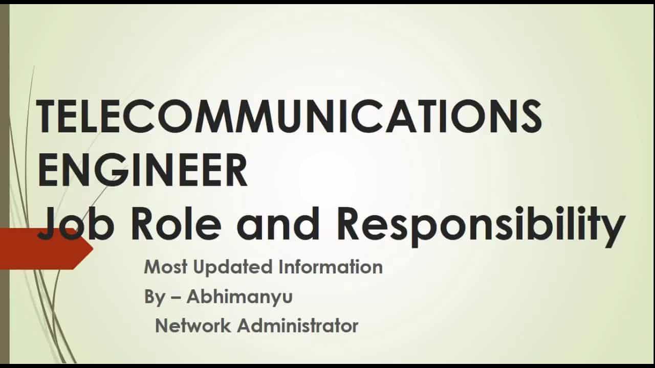 telecommunications-engineer-job-responsibilities