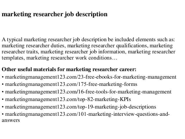 researcher-job-responsibilities
