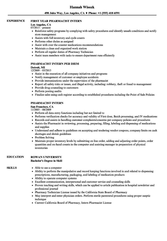 pharmacy-intern-job-responsibilities