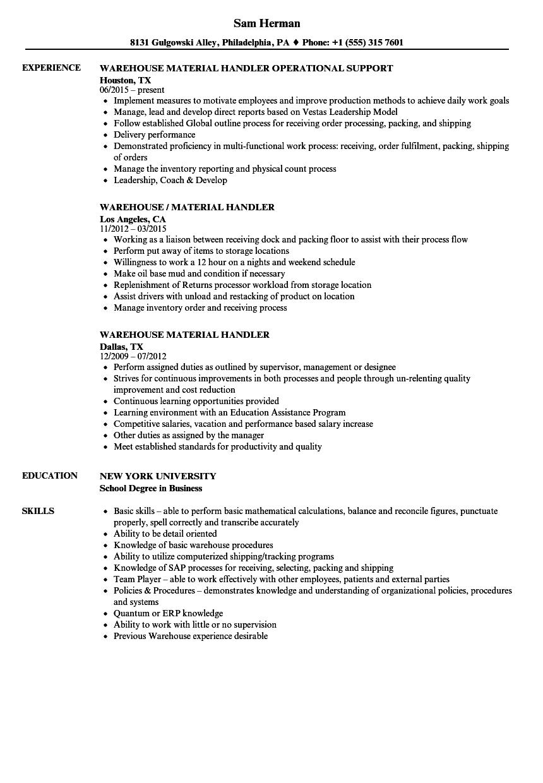 material-handler-job-responsibilities
