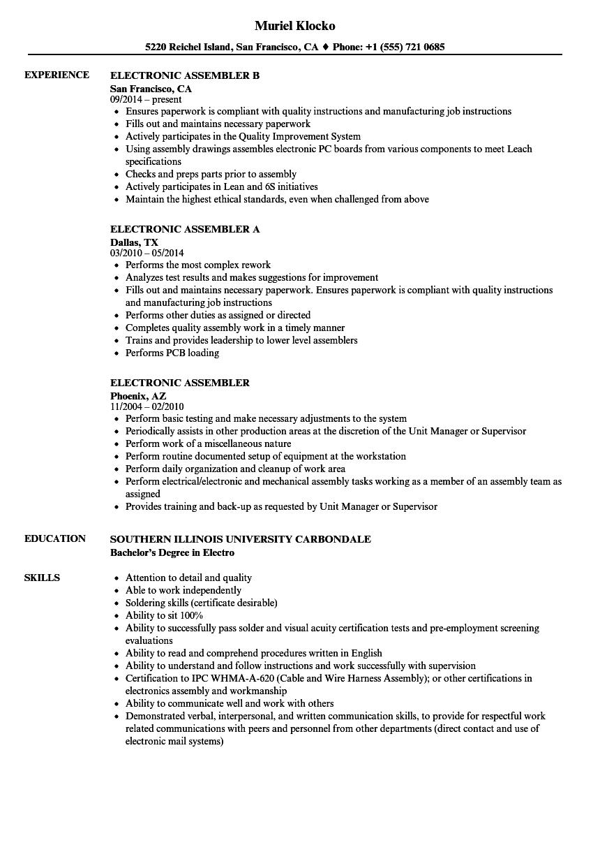 electronic-assembler-job-responsibilities
