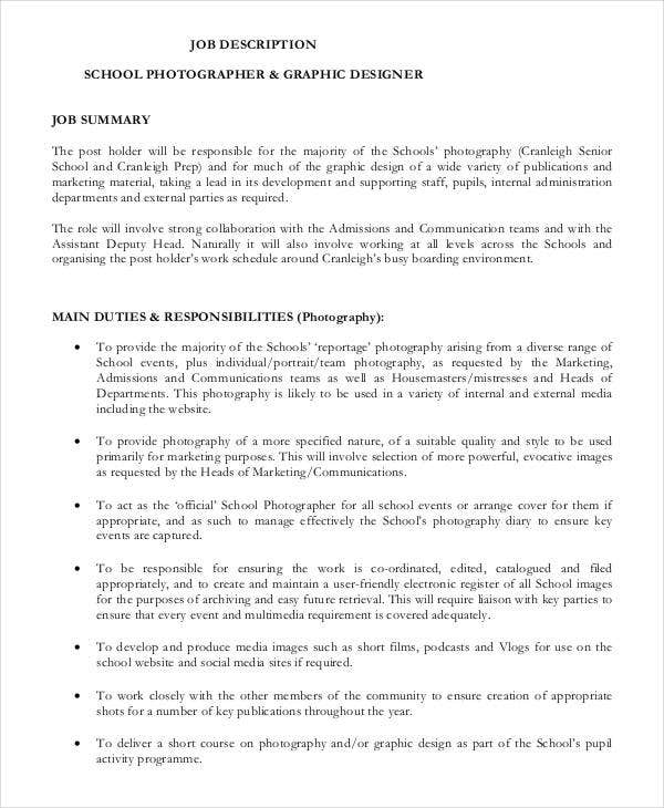 photographer-job-responsibilities