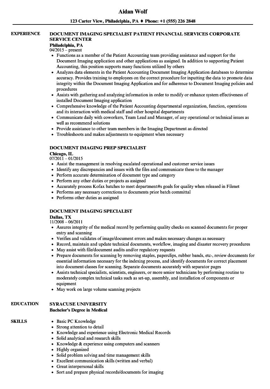 imaging-specialist-job-responsibilities