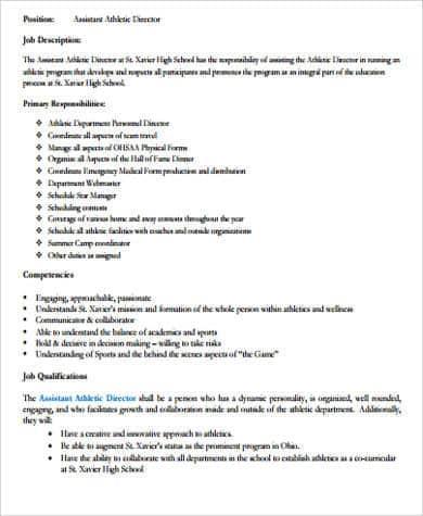athlete-job-responsibilities