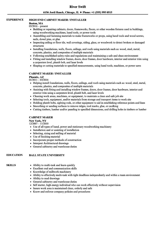 cabinet-maker-job-responsibilities