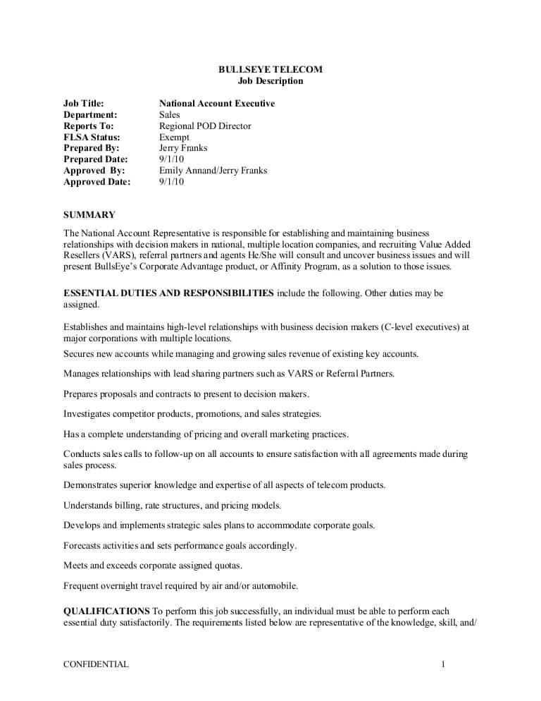 telecom-account-manager-job-responsibilities