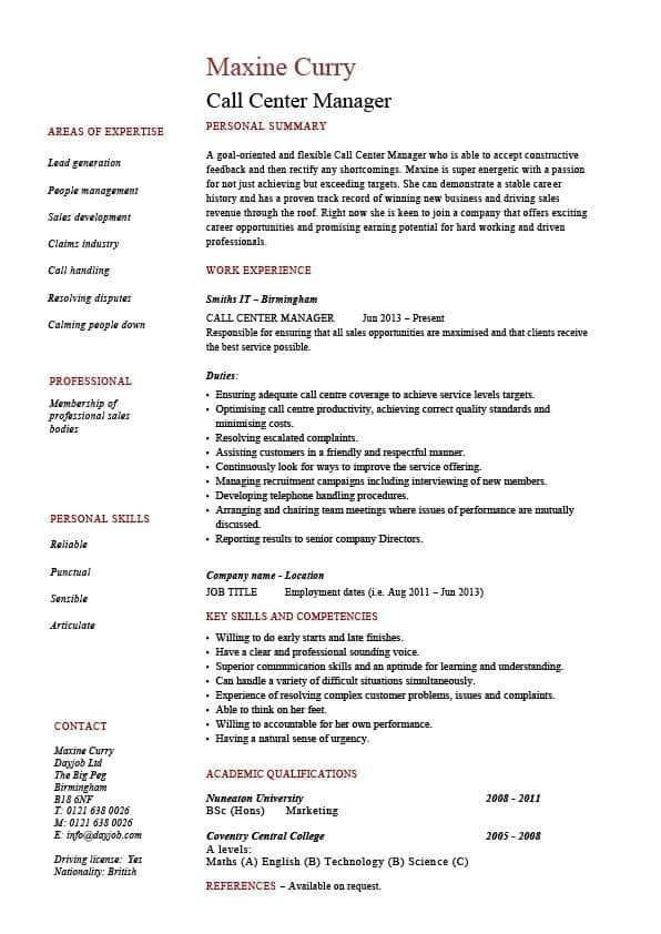 call-center-manager-job-responsibilities