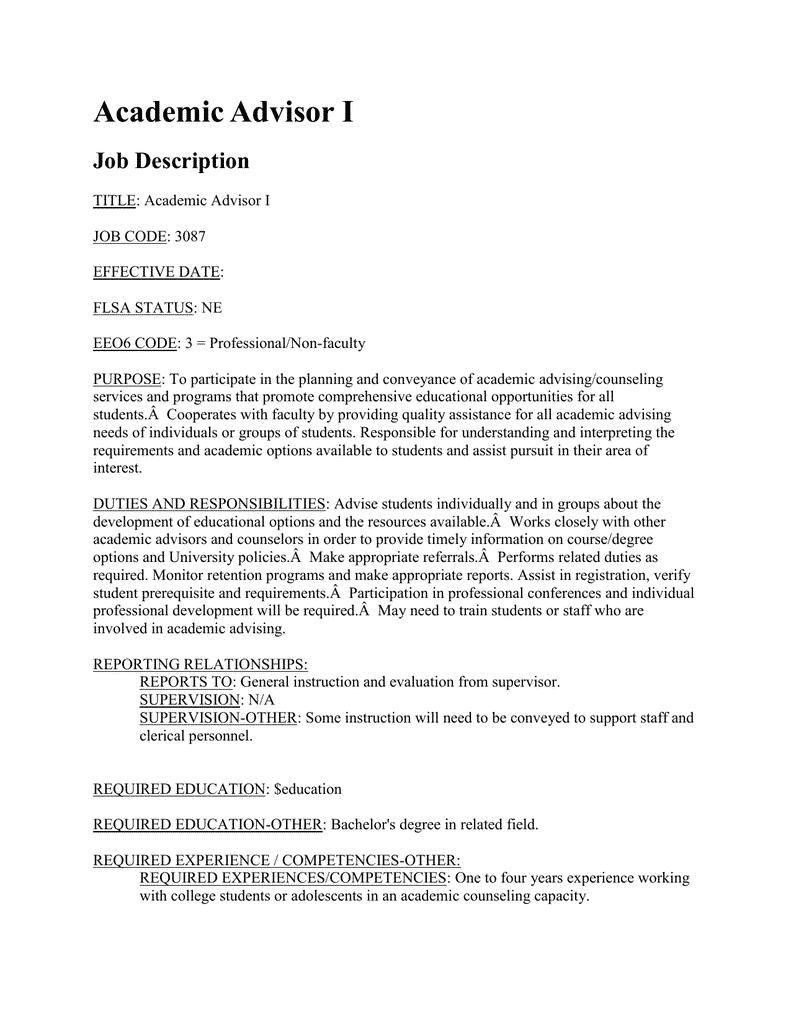 student-advisor-job-responsibilities