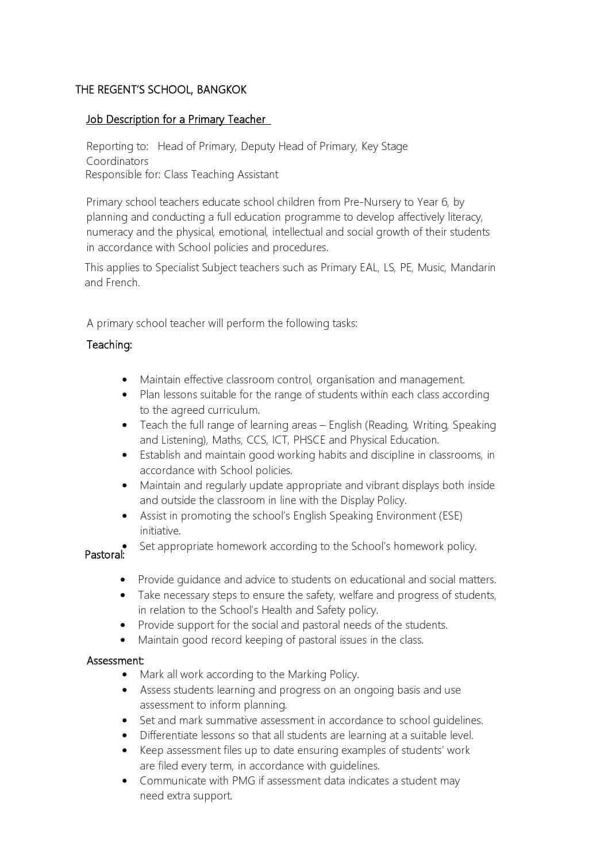 primary-school-teacher-job-responsibilities