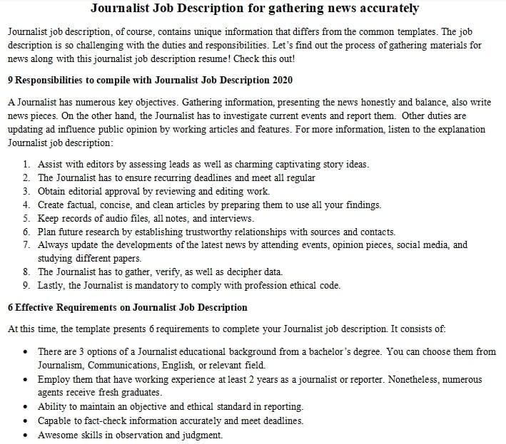 journalist-job-responsibilities