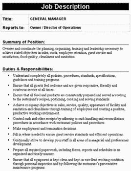 restaurant-job-responsibilities