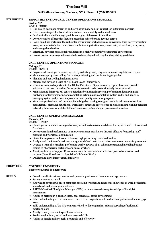 call-center-operations-manager-job-responsibilities