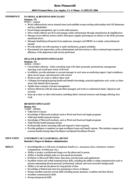 benefits-specialist-job-responsibilities