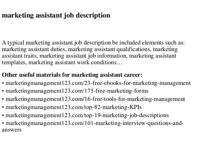marketing-assistant-job-responsibilities