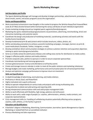 sports-manager-job-responsibilities