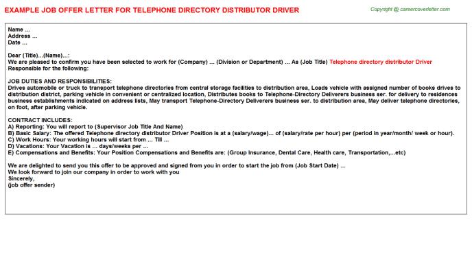 telephone-directory-delivery-job-responsibilities