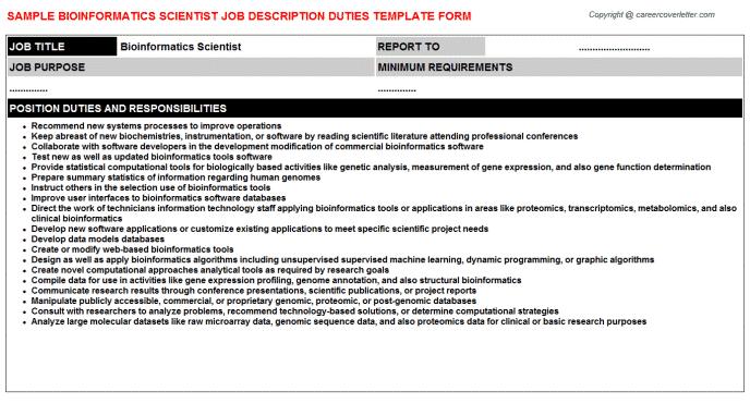 bioinformatics-scientist-job-responsibilities