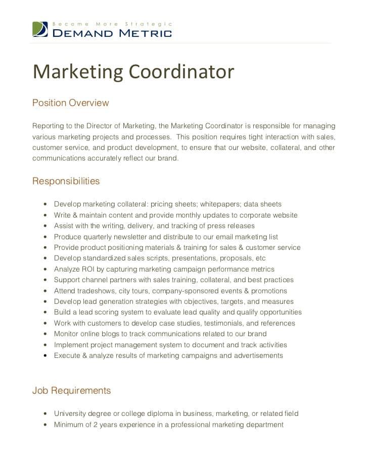 marketing-coordinator-job-responsibilities