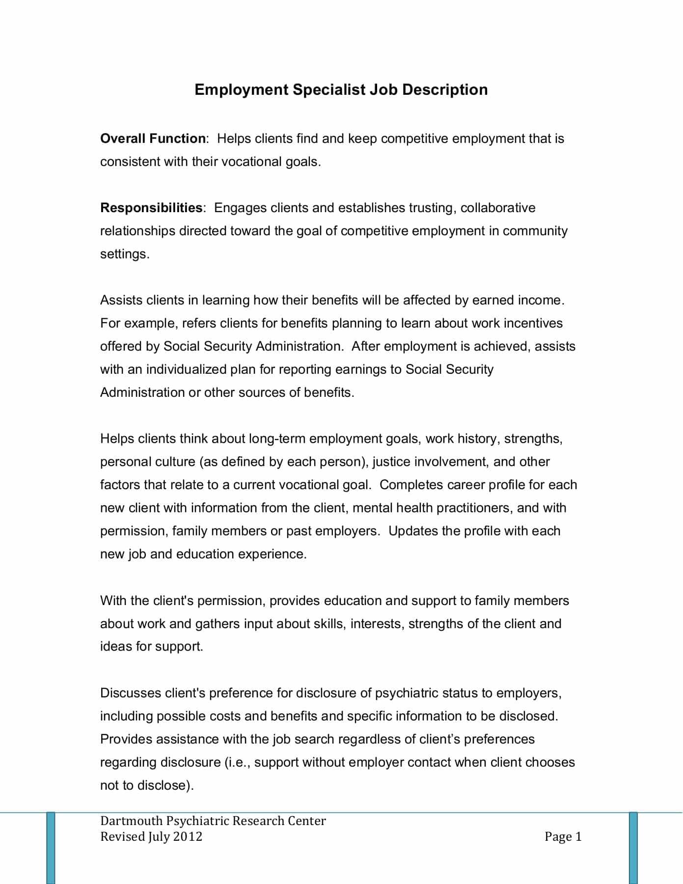 employment-specialist-job-responsibilities