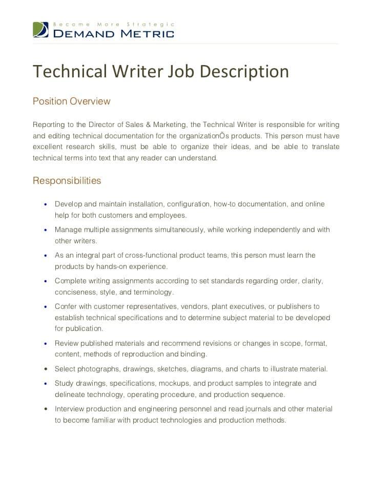 technical-writer-job-responsibilities
