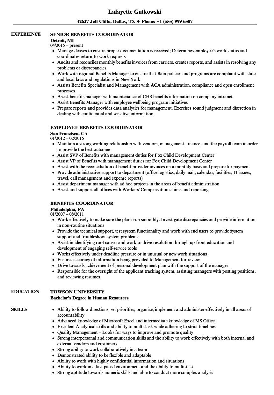 benefits-coordinator-job-responsibilities