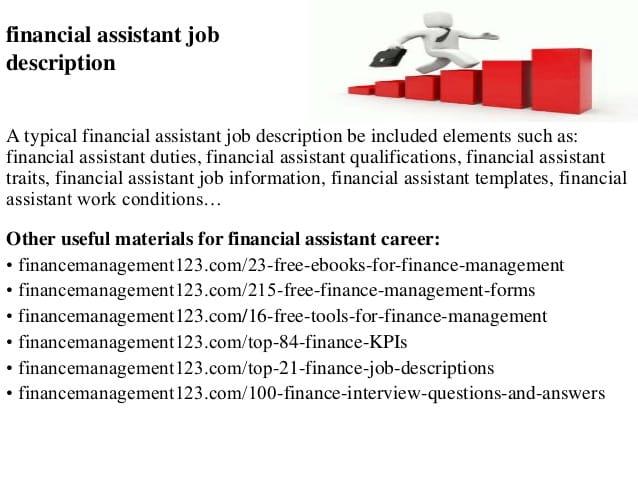 financial-assistant-job-responsibilities