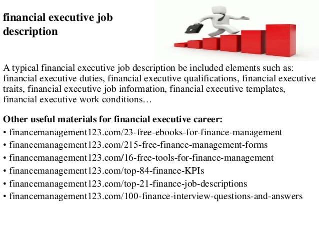 finance-executive-job-responsibilities