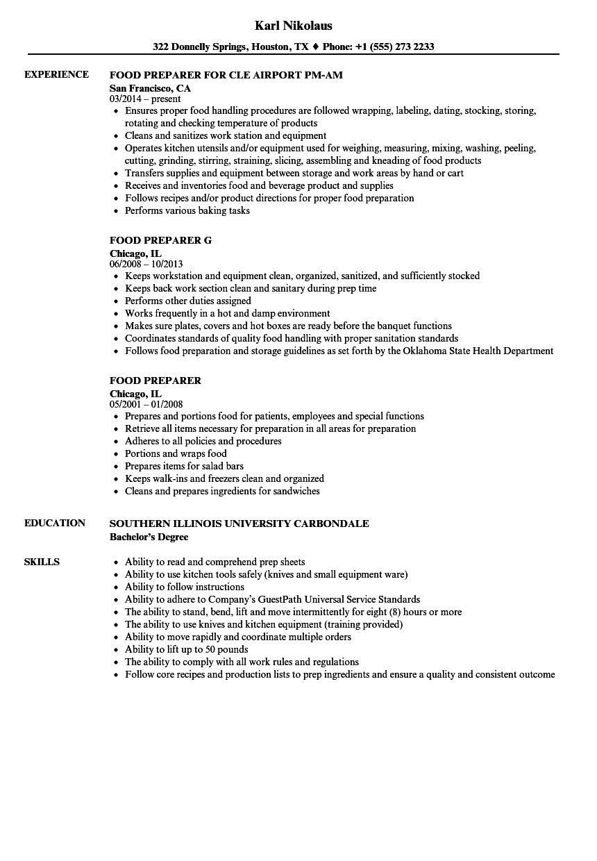 food-preparation-job-responsibilities