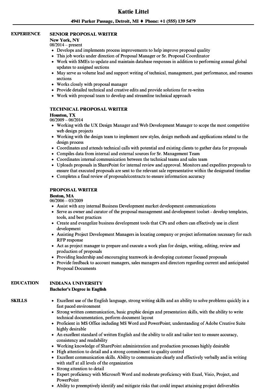 proposal-writer-job-responsibilities