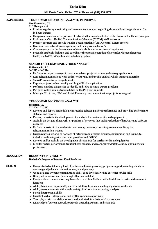 telecommunications-analyst-job-responsibilities