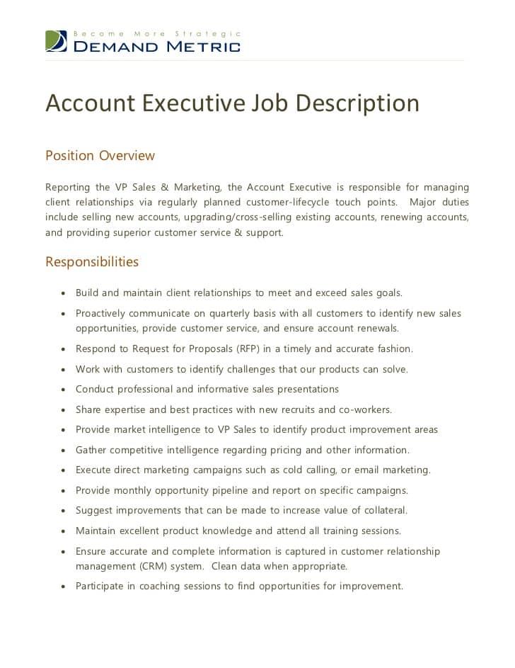 account-services-executive-job-responsibilities