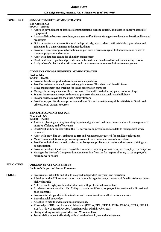 benefits-administrator-job-responsibilities