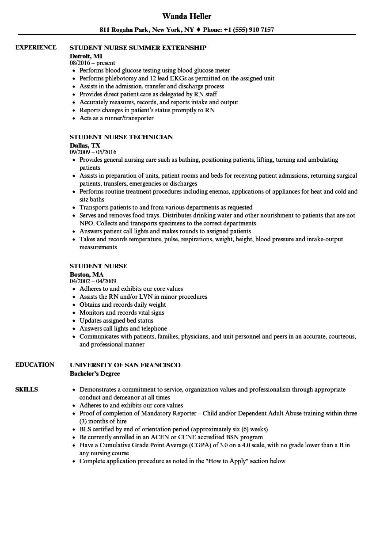 nursing-student-job-responsibilities