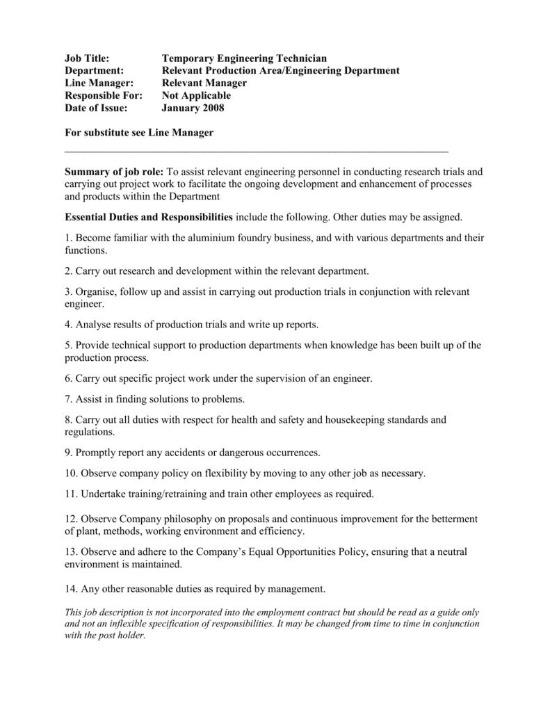 engineering-student-job-responsibilities