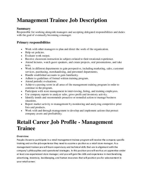 management-trainee-job-responsibilities