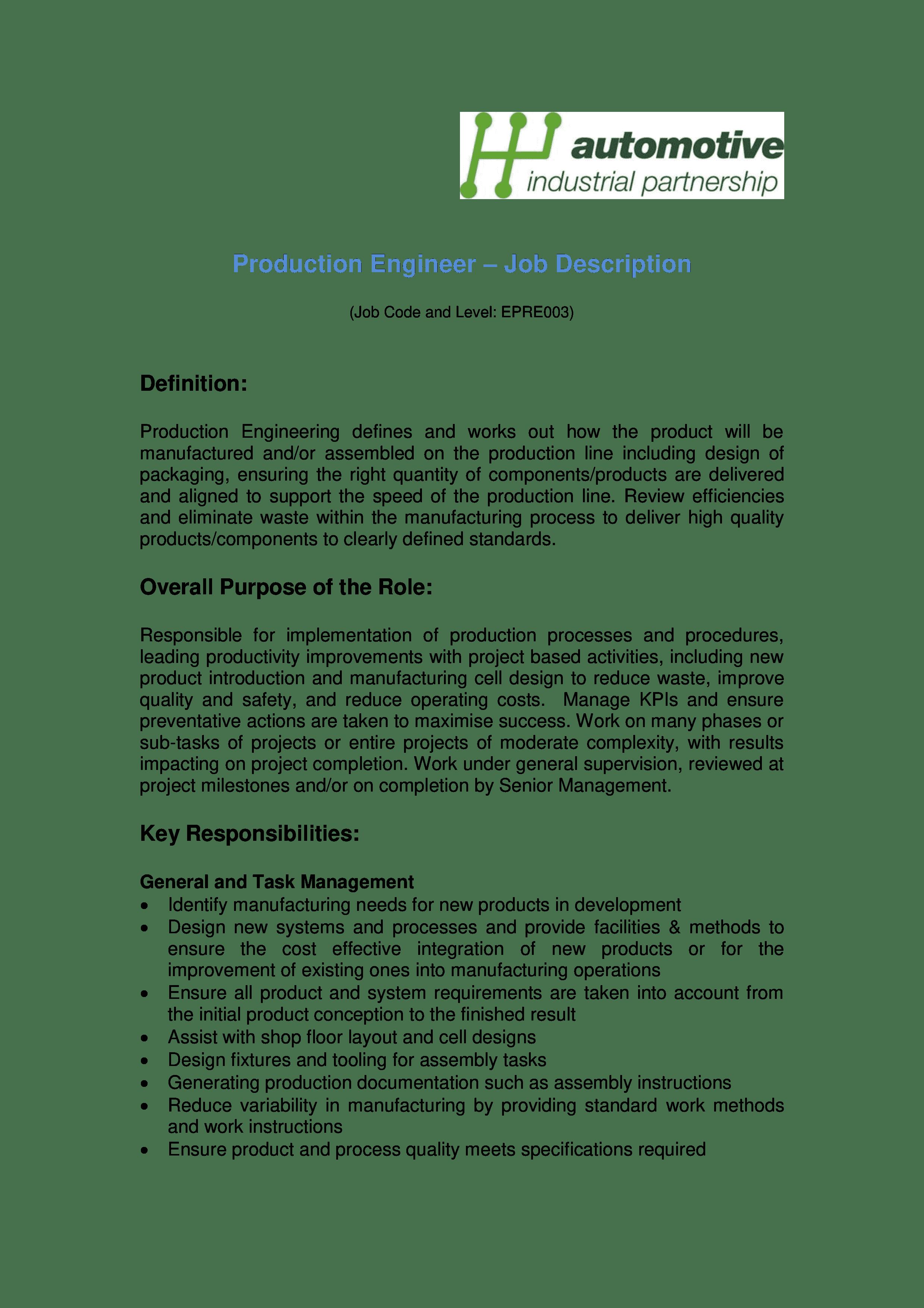 production-engineer-job-responsibilities