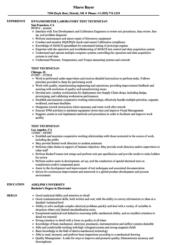 test-technician-job-responsibilities