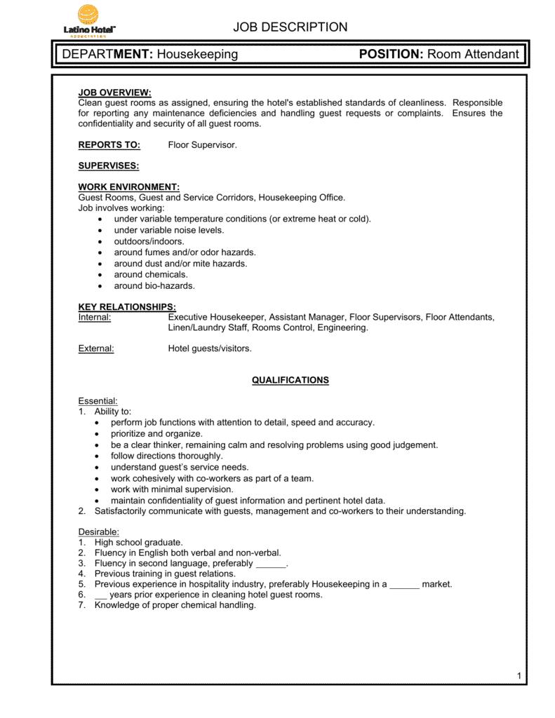 room-attendant-job-responsibilities