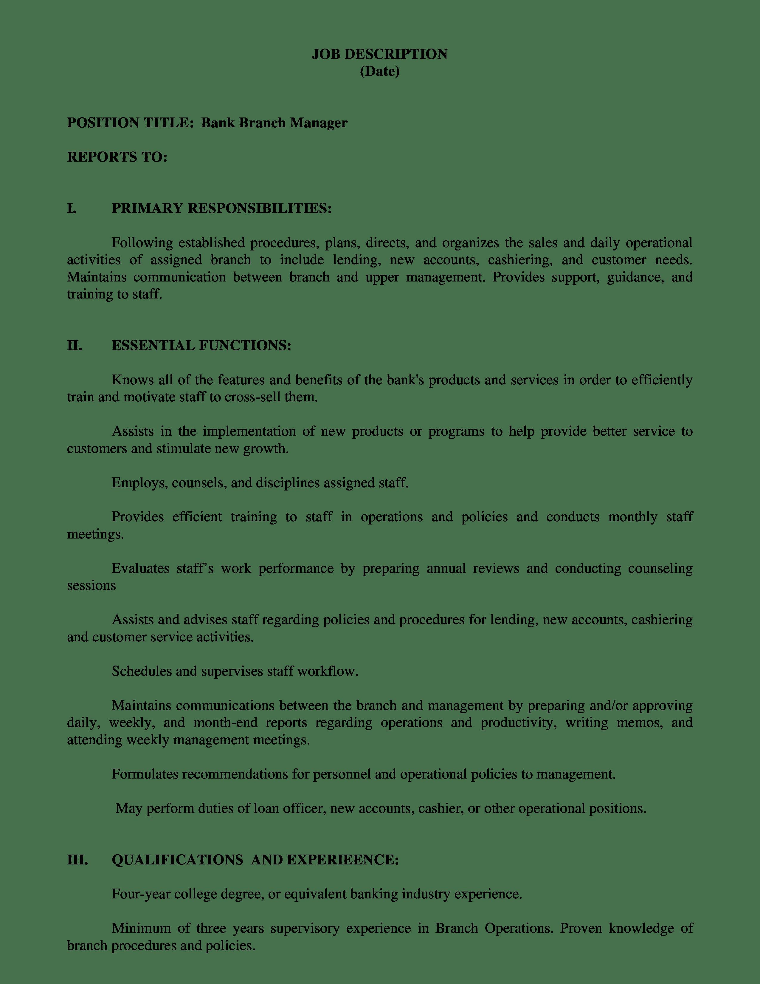 bank-manager-job-responsibilities