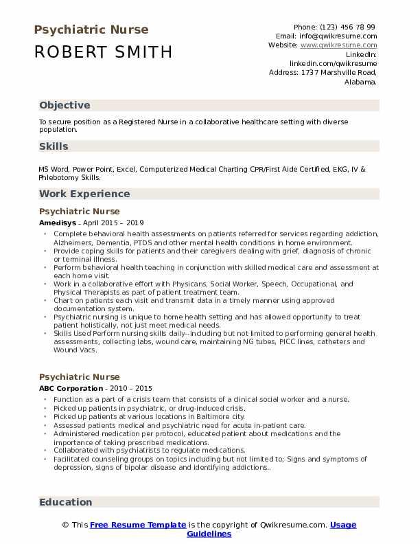 psychiatric-nursing-job-responsibilities